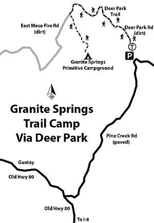 Don't disturb the horses — Granite Springs Trail Camp