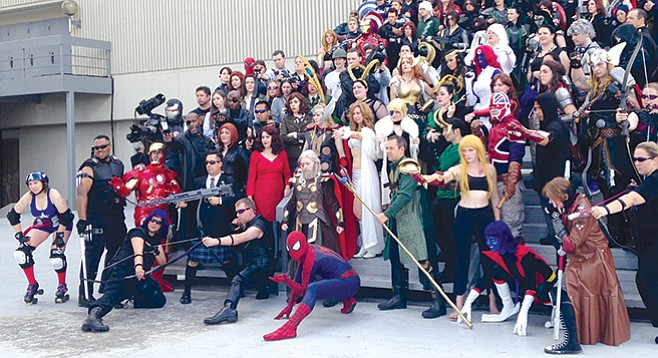 """Never disparage the cosplayers — they like the attention elicited by their """"sweet"""" Lady Deadpool costumes."""