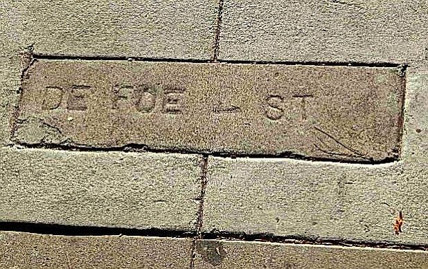 In 1968 there were still eight locations where it said Defoe St.