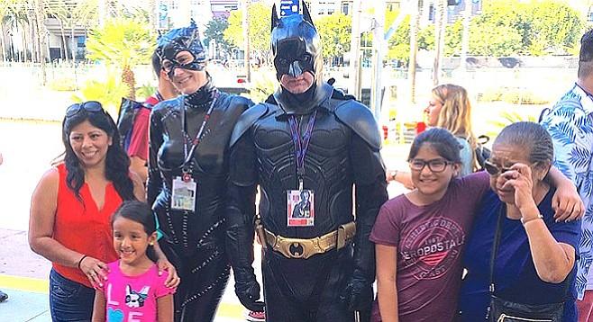 """Raymond picked Batman """"because he's the antihero."""""""