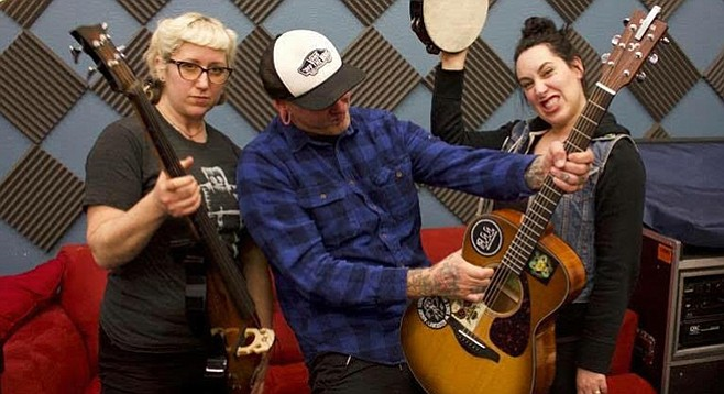 Find Blind Mountain Holler's hard times in their song (Kelley, Scotty, Amanda).