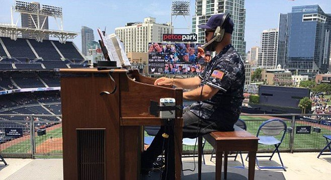 Cressey didn't leave the Padres alone after he found out the team was looking for an organist.