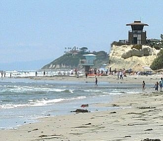 The project replaces the 1960s-built lifeguard tower that was taken down in late 2014 due to threatening bluff erosion.