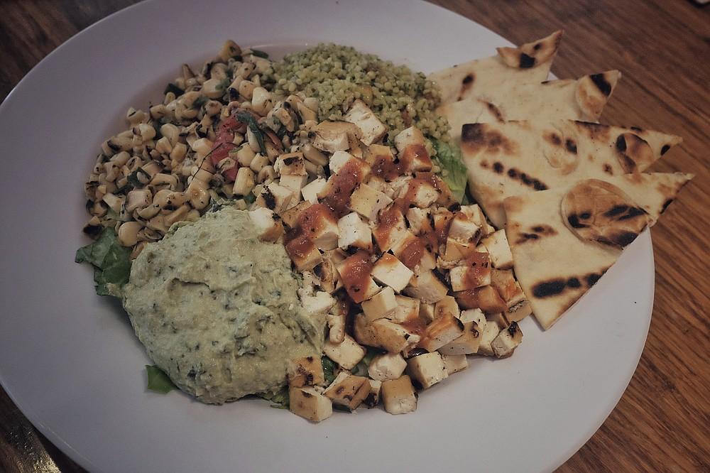 The Summer Celebration Salad — the tofu did not fall flat