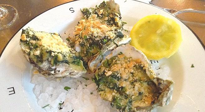 Doug's $11 oysters Rockefeller