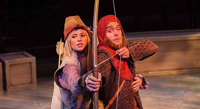 Meredith Garretson as Maid Marian and Daniel Reece as Robin Hood