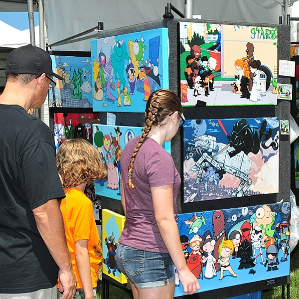 Paintings, sculpture, glass work, and other art at Liberty Station