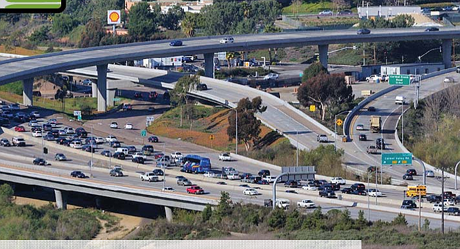 I-5 and 56. CalTrans says the project won't be started until 2035.