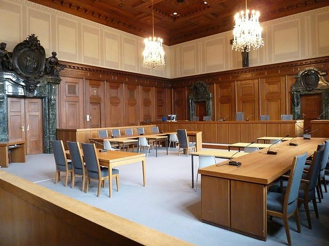 Nürnberg courtroom.