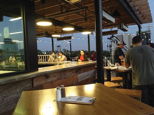 From deck bar looking out over East Village's Makers Quarter