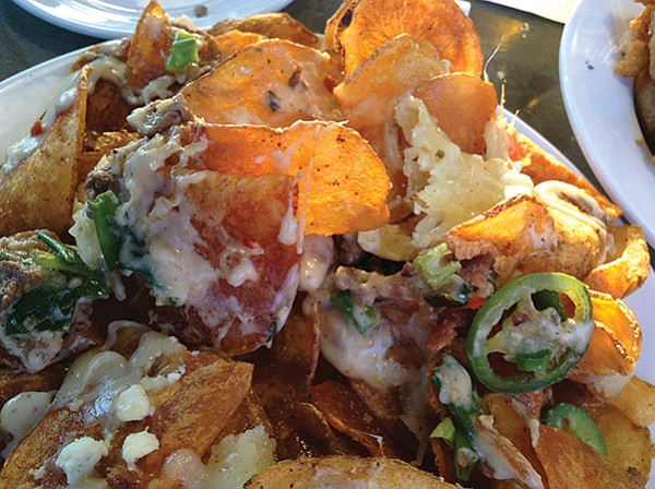 Steak and Gorgonzola nachos