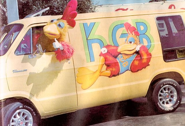 The KGB Chicken drove a van in the olden days.