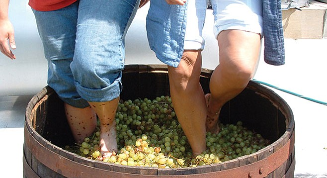 Ten local wineries will offer sample sips to the grape-stomping throng