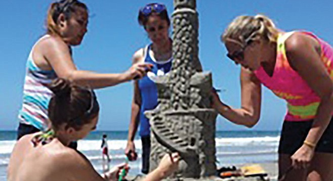 Make some sand art with lessons from San Diego Sand Castles