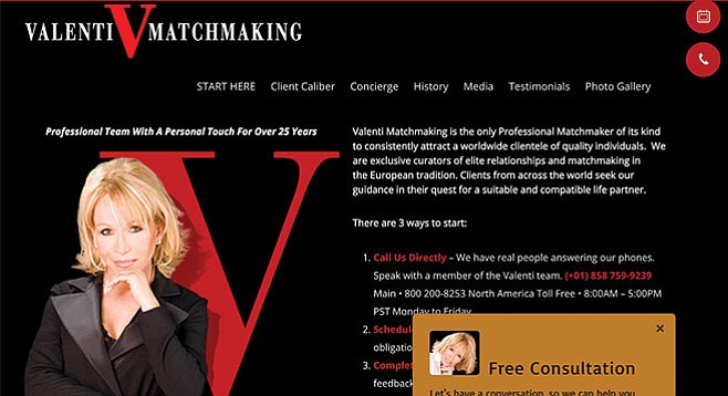 From Irene Valenti's matchmaking website