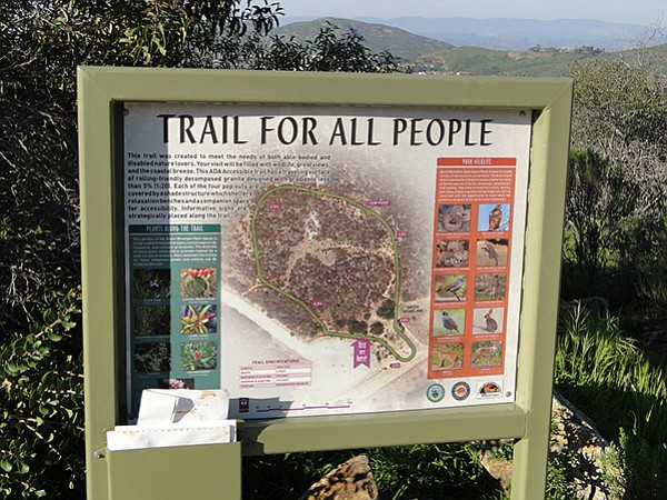 The trail is only about 0.25 mile in length and essentially flat.