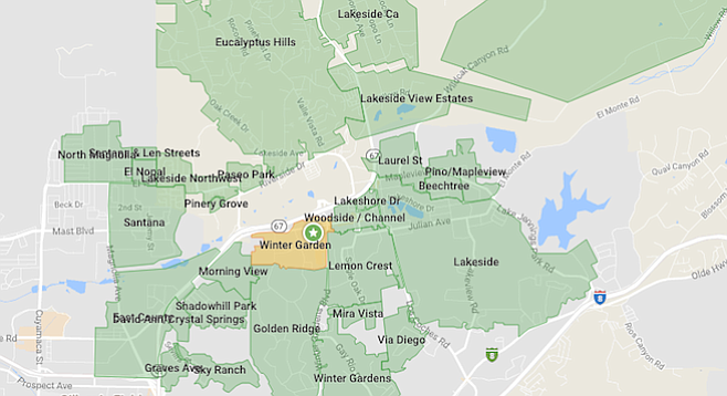 "Nextdoor's map has a ""Winter Garden"" not too far away from ""Winter Gardens"""