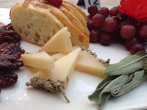 I chose the Manchego cheese is because it comes from La Mancha, home of my man, Don Quixote.