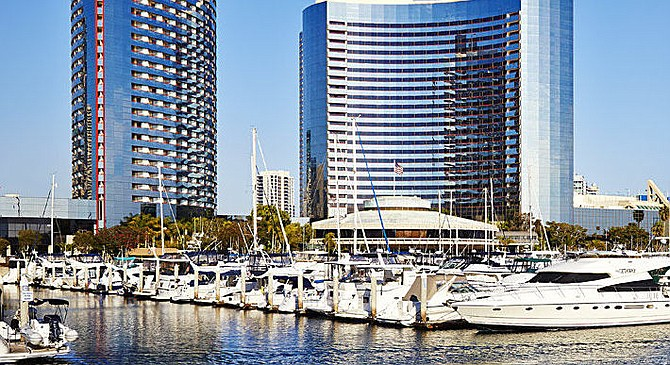 Marriott Marina. As the operator hit the wake it forced his vessel to lean to starboard and he accidentally pushed on the throttles.