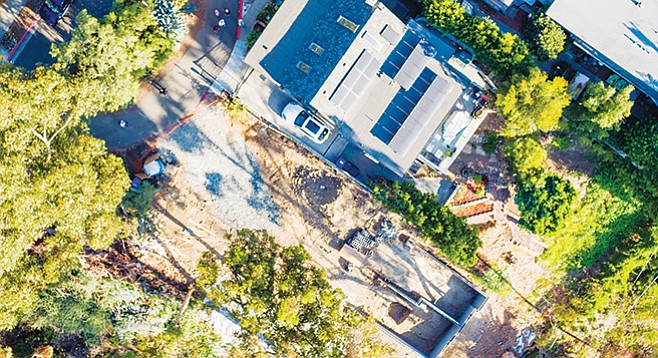 3844 Albatross Street and the grading next to it. - Image by Chris Brake