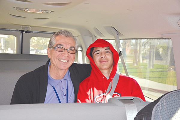 Richard Nares and cancer patient Antonio