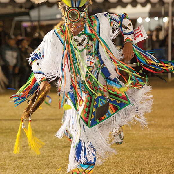 Dance exhibitions, Native American arts and crafts, and Indian tacos at the Barona Powwow
