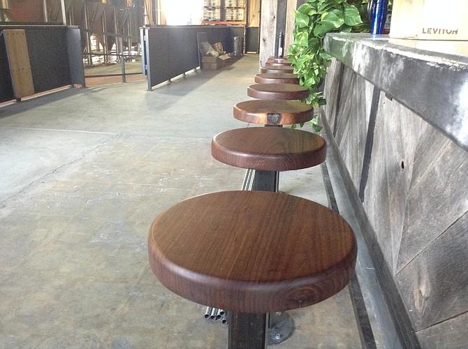 The 13 walnut stools