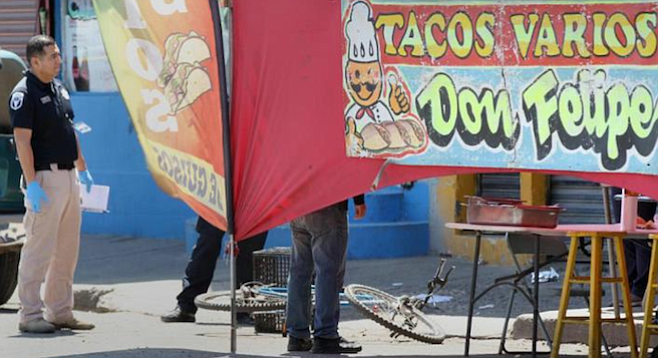 A taco vendor was among the 1000 people murdered (so far) this year in Tijuana.