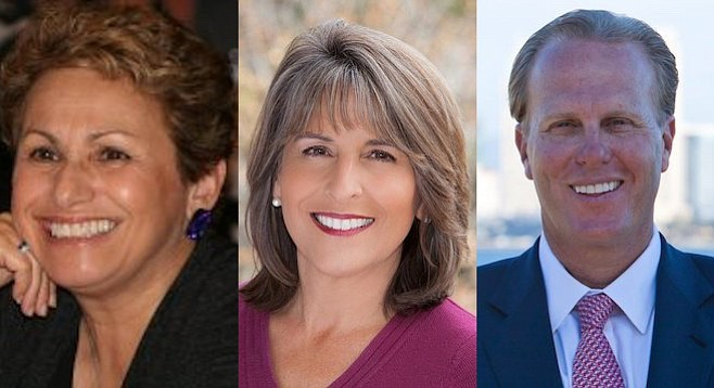 Jennifer Campbell, Lorie Zapf, Kevin Faulconer
