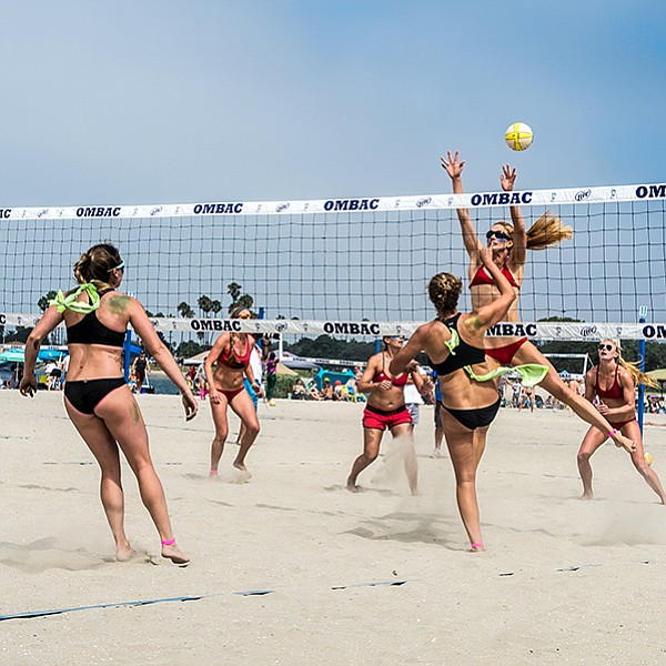 Beach volleyball and booze in Mission Beach