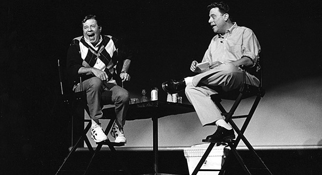 Jerry Lewis and Scott Marks at Columbia College in Chicago, July 25, 1996
