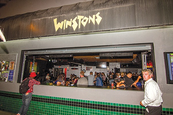 """Winstons. """"The biggest problem we get is with noise ordinance, 'cause we got a kick-ass sound system."""""""