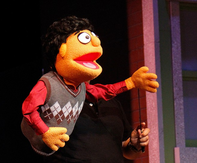 The show wouldn't work at all without the puppets, even though the puppeteers are clearly visible and present the entire time