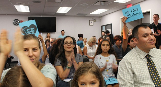 Parents and children at the September 7 Chula Vista Elementary School District meeting