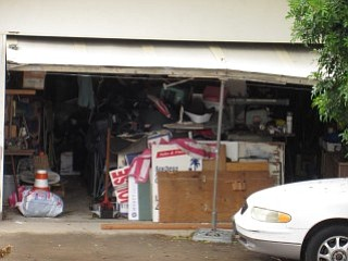 garage full of junk