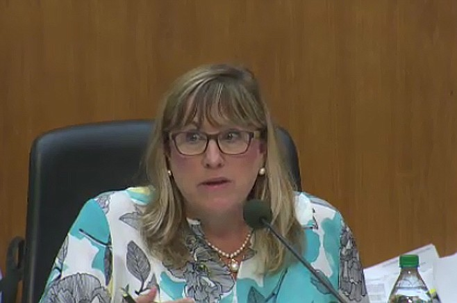 Commissioner Susan Peerson said the community needs to understand that 30 feet can add up to more than 30 feet — it depends on allowed zoning calculations.