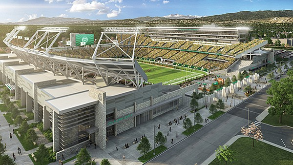 Colorado State plays in a stadium that is new this year.