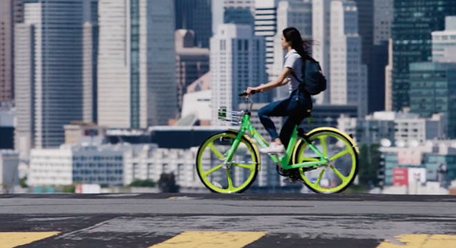 That's why they're LimeBikes