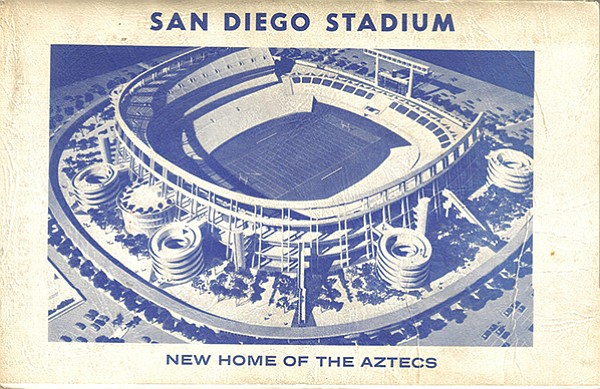 San Diego Stadium with the C shape