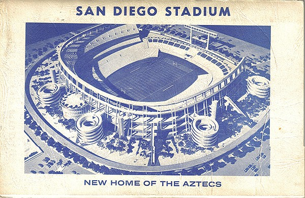 San Diego Stadium with the C shape