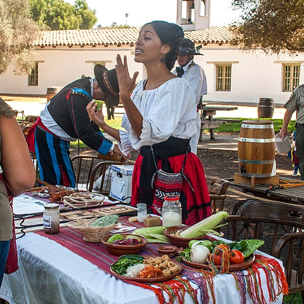 Demonstrations of early settlers in San Diego in the 1800s.