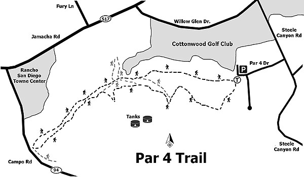 There are many interconnecting trails running through the area.