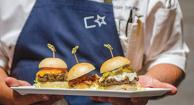 Cowboy Star sliders — at least one of 'em should be a gorgeous lil' burger. - Image by Matthew Suárez