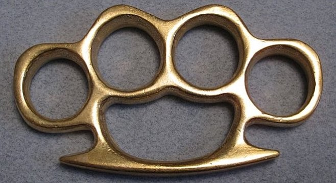 These are brass knuckles