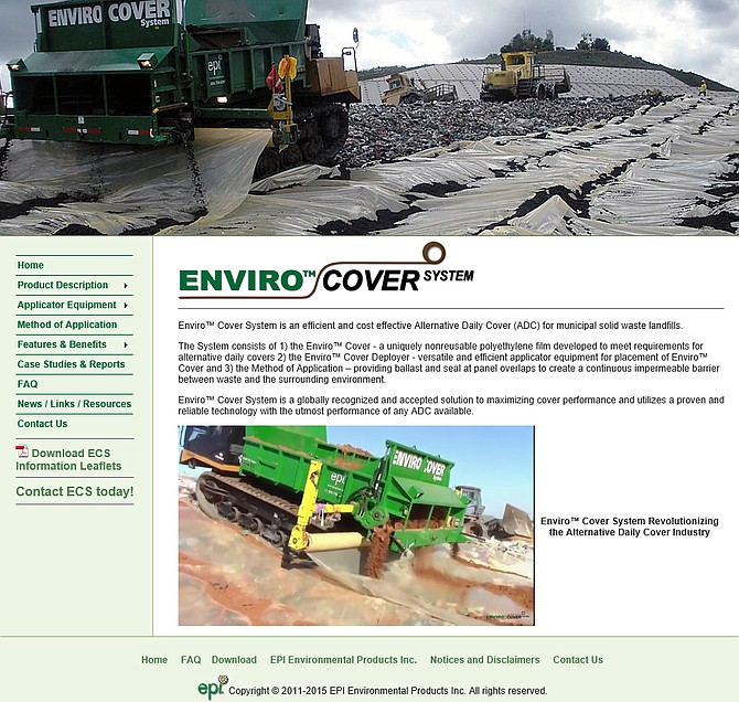Starting January 2018, Enviro Cover will be used. It's a one-use tarp system that trash is dumped atop the next day.