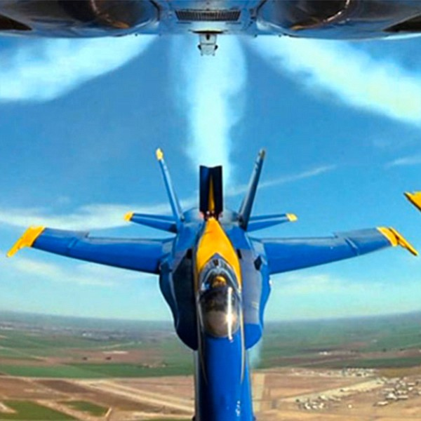 The Blue Angels and the Patriots Jet Team will do aerobatic maneuvers.