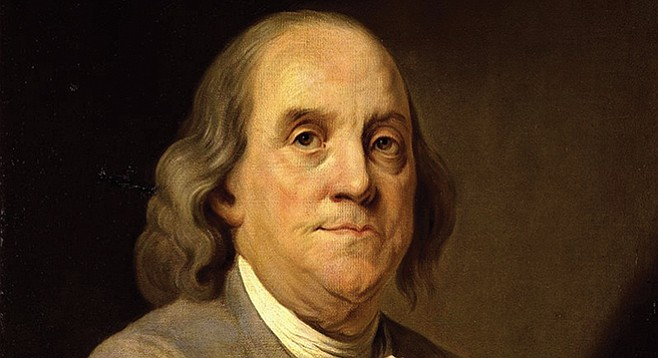 "Franklin: ""I have not the vanity to think I deserve heaven."""