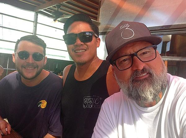 New friends brought together by music: Matt, Eric, Adam
