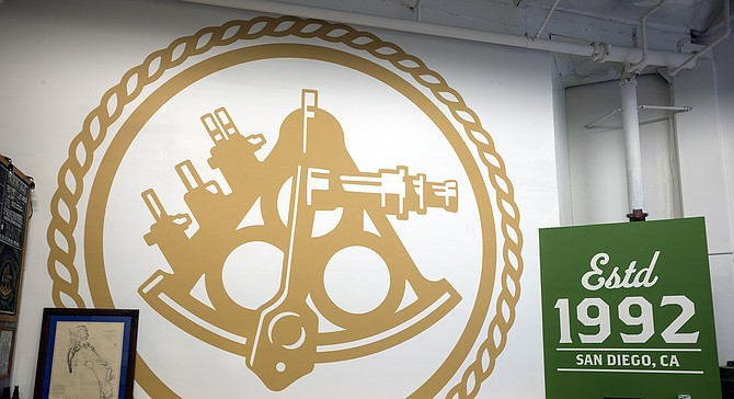 A mural in the classroom at Home Brew Mart