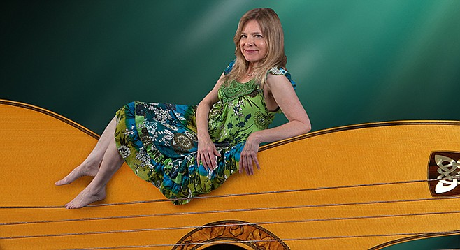 Harp guitarist Muriel Anderson is at the Museum of Making Music in Carlsbad